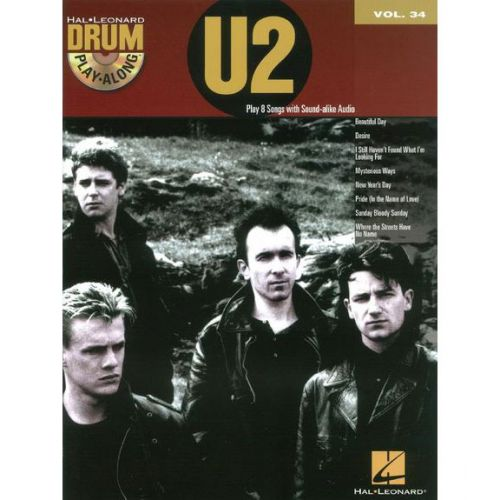 HAL LEONARD DRUM PLAY ALONG VOL.34 - U2 + CD