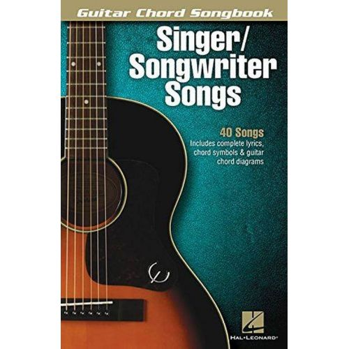 HAL LEONARD GUITAR CHORD SONGBOOK - SINGER/SONGWRITER SONGS