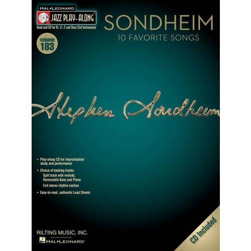 HAL LEONARD JAZZ PLAY ALONG VOL.183 - SONDHEIM + CD