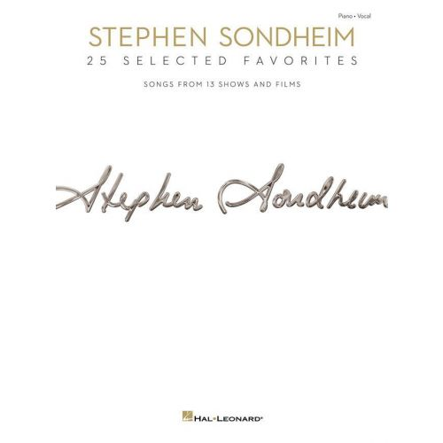 HAL LEONARD STEPHEN SONDHEIM - 25 SELECTED FAVORITES - PVG