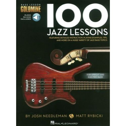 HAL LEONARD BASS LESSON GOLDMINE - 100 JAZZ LESSONS