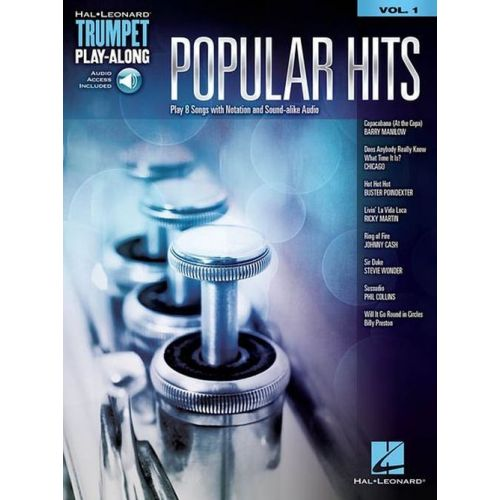 HAL LEONARD TRUMPET PLAY-ALONG VOL.1 - POPULAR HITS