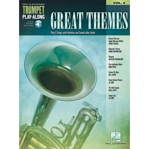 HAL LEONARD TRUMPET PLAY-ALONG VOL.4 - GREAT THEMES