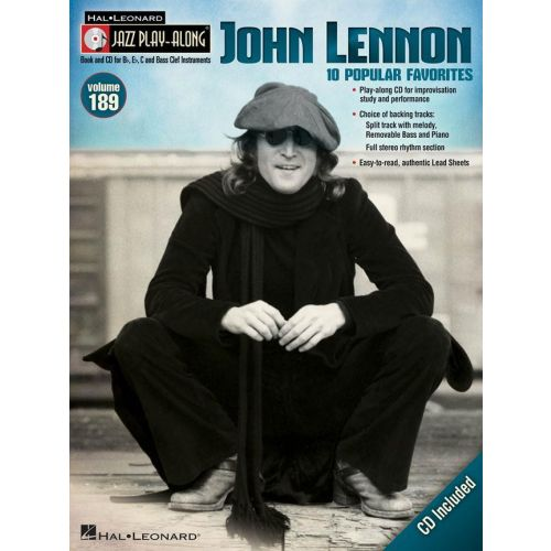 HAL LEONARD JAZZ PLAY ALONG VOL.189 - JOHN LENNON + CD