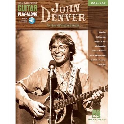 HAL LEONARD GUITAR PLAY ALONG VOLUME 187 - JOHN DENVER - GUITAR + AUDIO