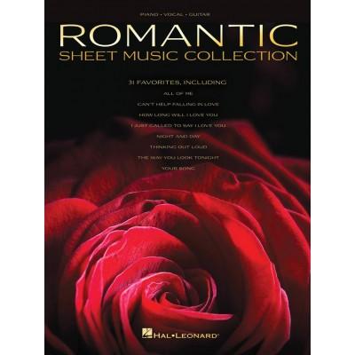 HAL LEONARD ROMANTIC SHEET MUSIC COLLECTION - PVG