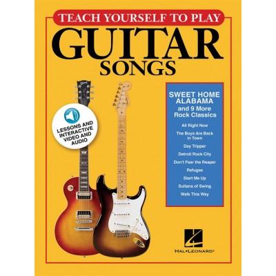 HAL LEONARD SWEET HOME ALABAMA AND 9 MORE ROCK CLASSICS - TEACH YOURSELF TO PLAY