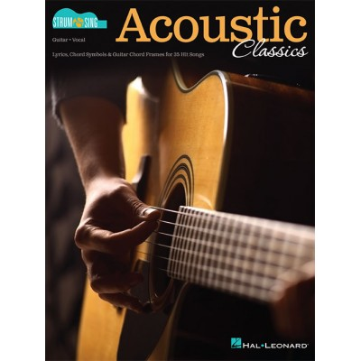 HAL LEONARD ACOUSTIC CLASSICS - STRUM & SING SERIES FOR GUITAR