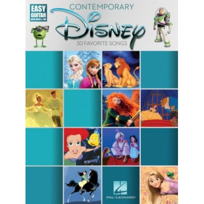 HAL LEONARD CONTEMPORARY DISNEY - EASY GUITAR WITH NOTES AND TAB