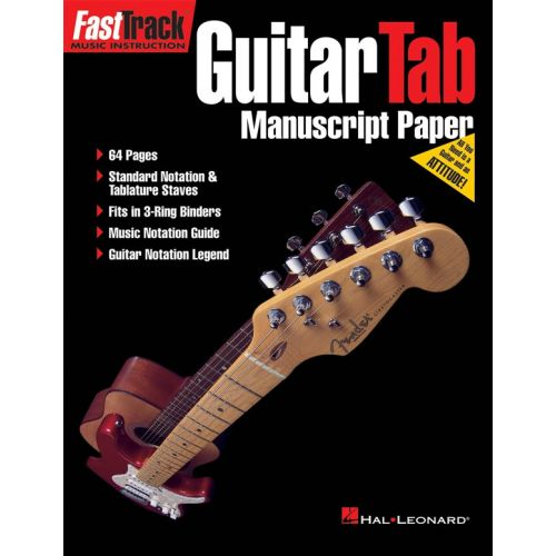 HAL LEONARD FAST TRACK GUITAR TAB MANUSCRIPT PAPER 64 PAGES- THEORY