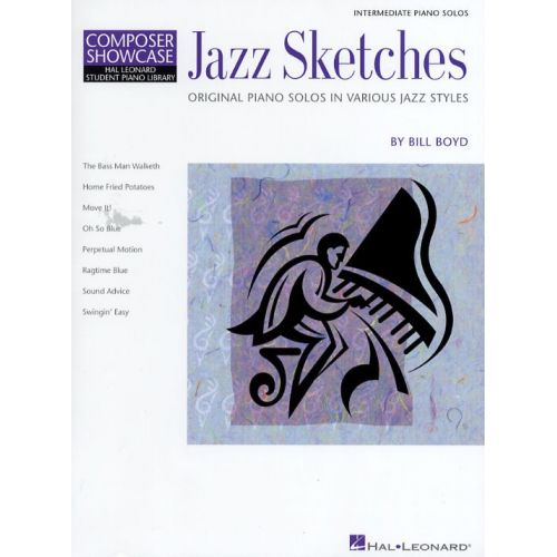 HAL LEONARD COMPOSER SHOWCASE BILL BOYD JAZZ SKETCHES - PIANO SOLO