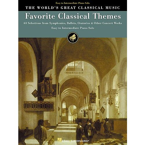 HAL LEONARD THE WORLD'S GREAT CLASSICAL MUSIC FAVORITE CLASSICAL THEMES EASY/INT - PIANO SOLO
