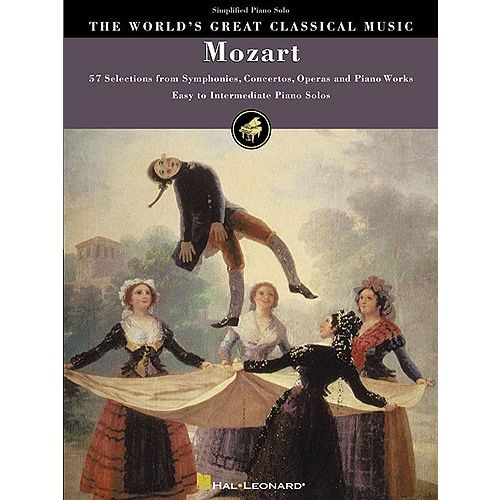 HAL LEONARD THE WORLD'S GREAT CLASSICAL MUSIC MOZART SIMPLIFIED PIANO SOLOS - PIANO SOLO