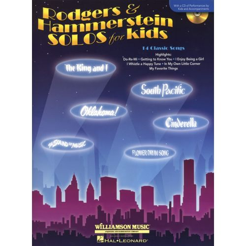HAL LEONARD RODGERS AND HAMMERSTEIN - SOLOS FOR KIDS VOICE AND PIANO + CD - VOICE