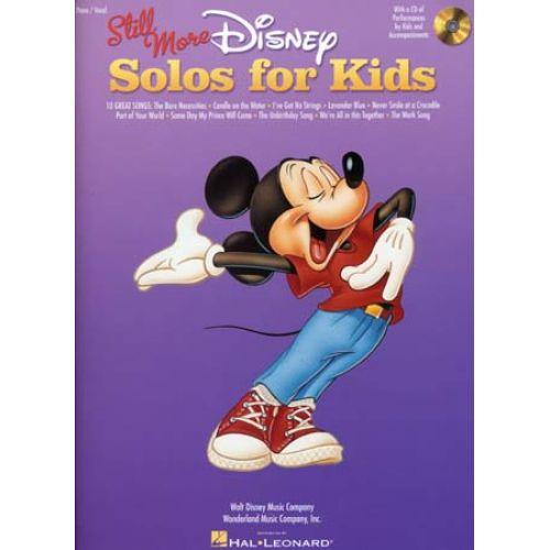 HAL LEONARD DISNEY STILL MORE SOLOS FOR KIDS + CD - PIANO, CHANT