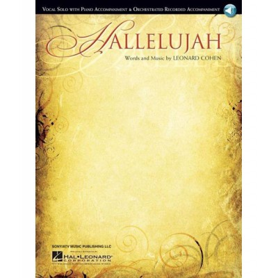 HAL LEONARD LEONARD COHEN HALLELUJAH VOCAL SOLO WITH PIANO ACCOMP + MP3 -  PVG