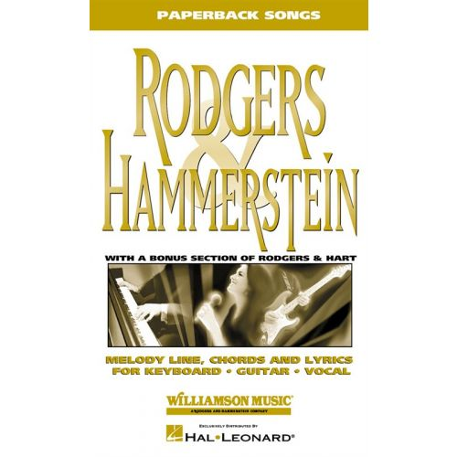 HAL LEONARD PAPERBACK SONGS RODGERS AND HAMMERSTEIN - PVG