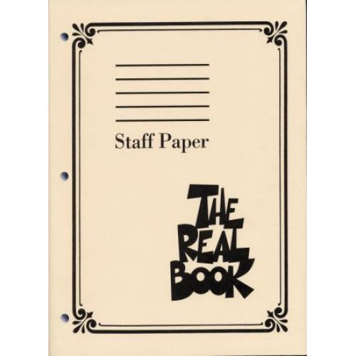 HAL LEONARD REAL BOOK STAFF PAPER