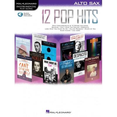 HAL LEONARD INSTRUMENTAL PLAY ALONG - 12 POP HITS + ONLINE AUDIO - ALTO SAXOPHONE