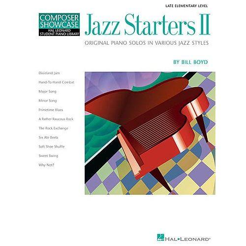 HAL LEONARD COMPOSER SHOWCASE BILL BOYD JAZZ STARTERS II - PIANO SOLO