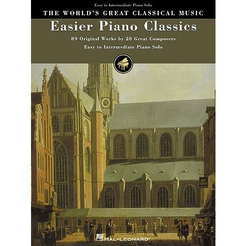 HAL LEONARD THE WORLD'S GREAT CLASSICAL MUSIC EASIER PIANO CLASSICS EASY/INTERM - PIANO SOLO