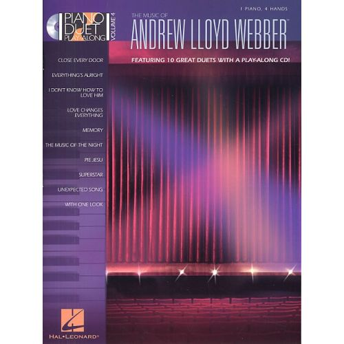 HAL LEONARD PIANO DUET PLAY-ALONG VOLUME 4 - MUSIC OF ANDREW LLOYD WEBBER + CD - PIANO SOLO