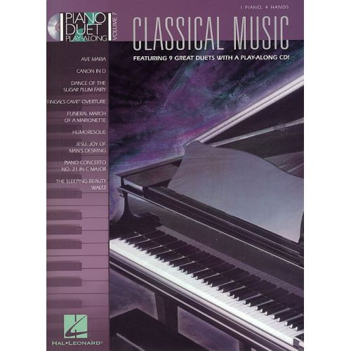 HAL LEONARD CLASSICAL MUSIC - VOL. 7 - PIANO DUET PLAY ALONG - PIANO DUET