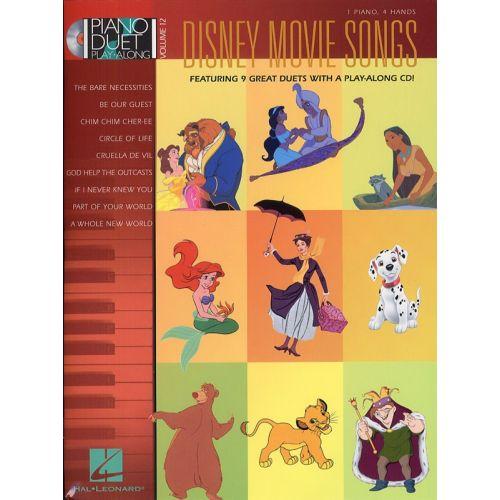 HAL LEONARD DISNEY MOVIE SONGS + CD - PIANO DUET
