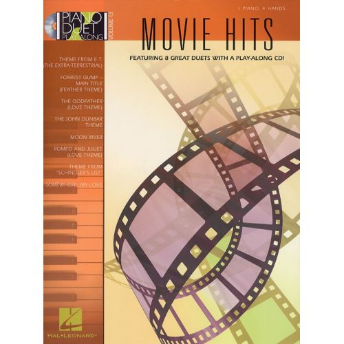 HAL LEONARD MOVIE HITS + CD - PIANO DUET