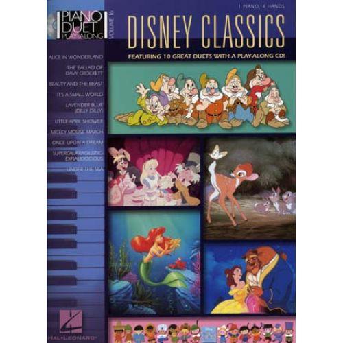 HAL LEONARD PIANO DUET PLAY ALONG VOL.16 - DISNEY CLASSICS + CD