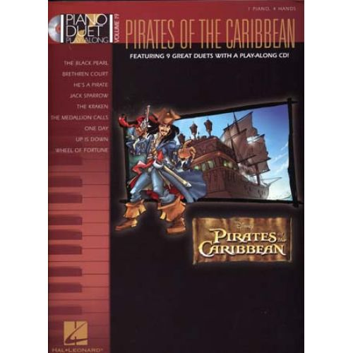 HAL LEONARD KLOSE CAROL - PIANO DUET PLAY ALONG VOL.19 - PIRATES OF THE CARIBBEAN + CD