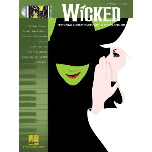 HAL LEONARD WICKED + CD - PIANO DUET