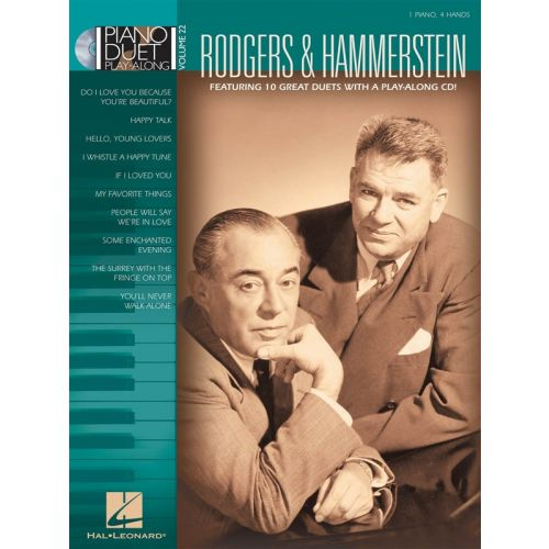 HAL LEONARD PIANO DUET PLAY-ALONG VOLUME 22 - RODGERS AND HAMMERSTEIN + CD - PIANO DUET