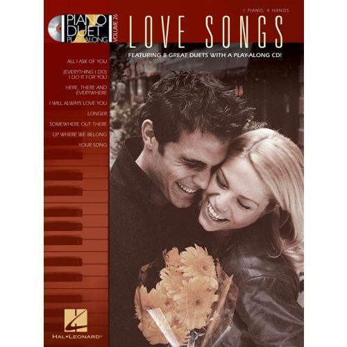 HAL LEONARD PIANO DUET PLAY ALONG VOLUME 26 LOVE SONGS + CD - PIANO DUET