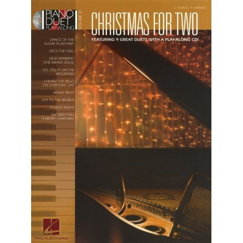 HAL LEONARD CHRISTMAS FOR TWO - PIANO DUET PLAY-ALONG VOLUME 37 - PIANO DUET