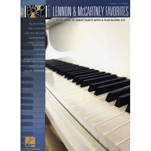 HAL LEONARD PIANO DUET PLAY ALONG VOL.38 LENNON & MCCARTNEY FAVORITES + CD