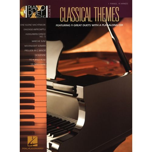 HAL LEONARD PIANO DUET PLAY ALONG VOLUME 40 CLASSICAL THEMES + CD - PIANO DUET