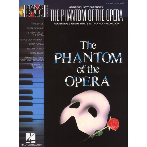 HAL LEONARD PIANO DUET PLAY-ALONG VOLUME 41 PHANTOM OF THE OPERA + CD - PIANO DUET