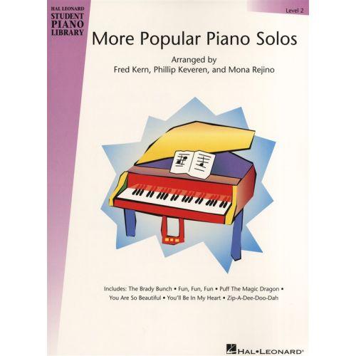 HAL LEONARD HAL LEONARD STUDENT PIANO LIBRARY MORE POPULAR PIANO SOLOS LEVEL 2 - PIANO SOLO