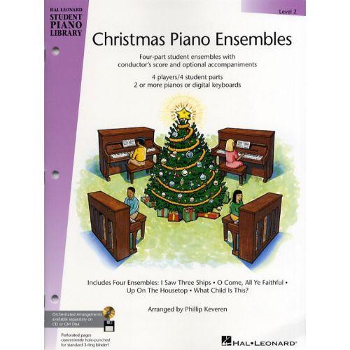 HAL LEONARD HAL LEONARD STUDENT PIANO LIBRARY CHRISTMAS PIANO ENSEMBLES LEVEL 2 P - PIANO SOLO