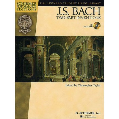 SCHIRMER BACH J.S. - TWO-PART INVENTIONS + MP3