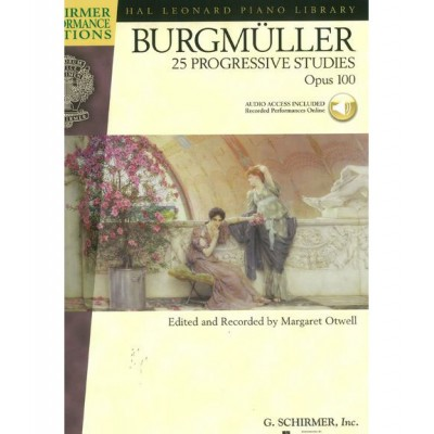 SCHIRMER BURGMULLER J.F. - 25 PROGRESSIVE PIECES OP.100 + MP3 - PIANO