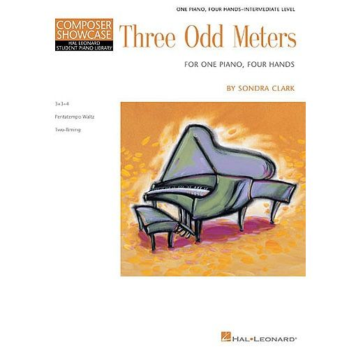 HAL LEONARD COMPOSER SHOWCASE - SONDRA CLARK THREE ODD METERS - PIANO SOLO