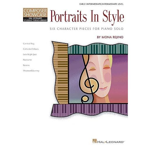 HAL LEONARD COMPOSER SHOWCASE MONA REJINO PORTRAITS IN STYLE - PIANO SOLO