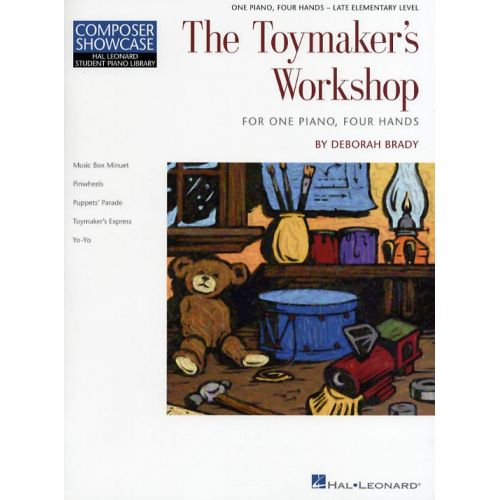 HAL LEONARD COMPOSER SHOWCASE DEBORAH BRADY THE TOYMAKER'S WORKSHOP - PIANO DUET