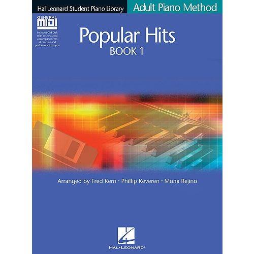 HAL LEONARD HAL LEONARD ADULT PIANO METHOD POPULAR HITS BOOK 1 PF BOOK/GM DISK - PIANO SOLO