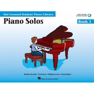 HAL LEONARD PIANO SOLOS BOOK 1 - + MP3 PACK - HAL LEONARD STUDENT PIANO LIBRARY - PIANO SOLO