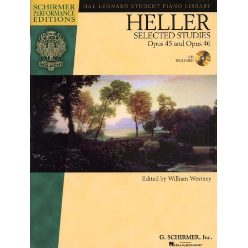 SCHIRMER STEPHEN HELLER SELECTED STUDIES OP.45 AND OP.46 + CD - OPUS 45 AND 46 - PIANO SOLO