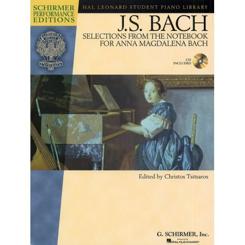 HAL LEONARD J.S. BACH SELECTIONS FROM THE NOTEBOOK FOR ANNA MAGDALENA BACH - PIANO SOLO