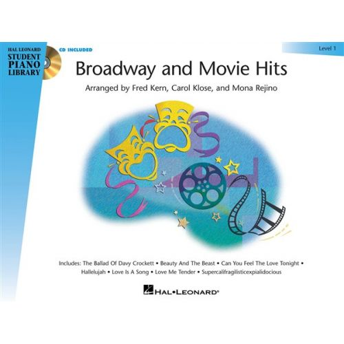 HAL LEONARD BROADWAY AND MOVIE HITS LEVEL 1 + CD - PIANO SOLO
